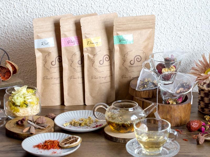 気軽に薬膳を取り居たいなら、薬膳インストラクターの鍋谷氏と共同開発した、シーピースの薬膳茶がおすすめ。